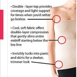 SPANX Hide & Sleek nude strapless slimming cami